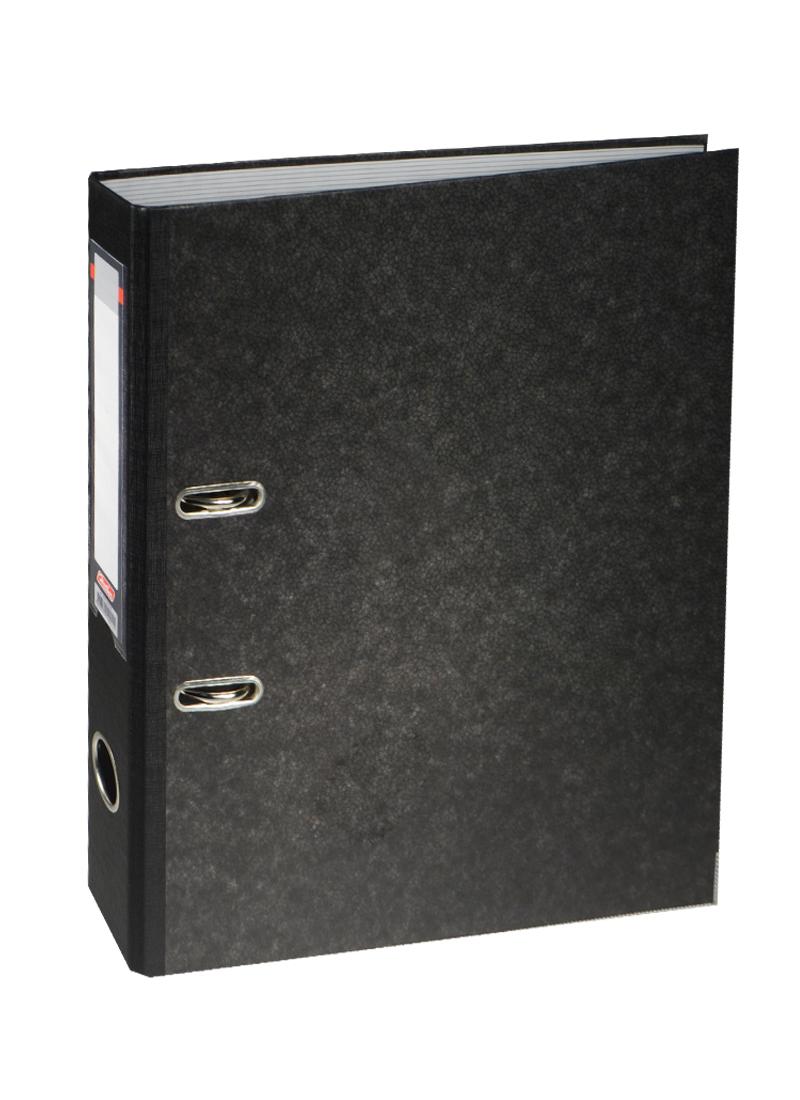 "Папка архивная ""Черный мрамор"", А4, 50мм, Hatber"