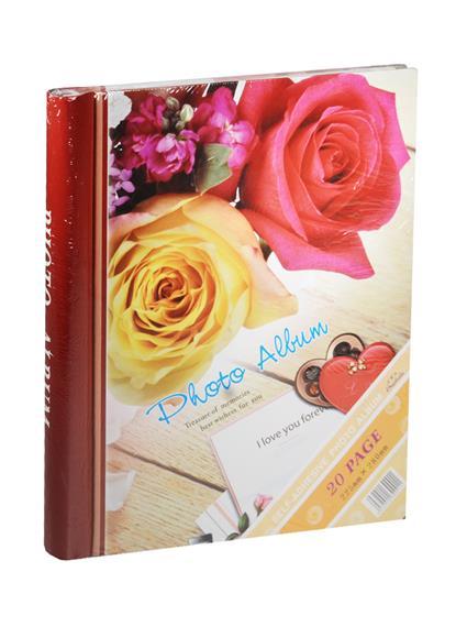 Фотоальбом магнитный 10 листов Розы (24х29)