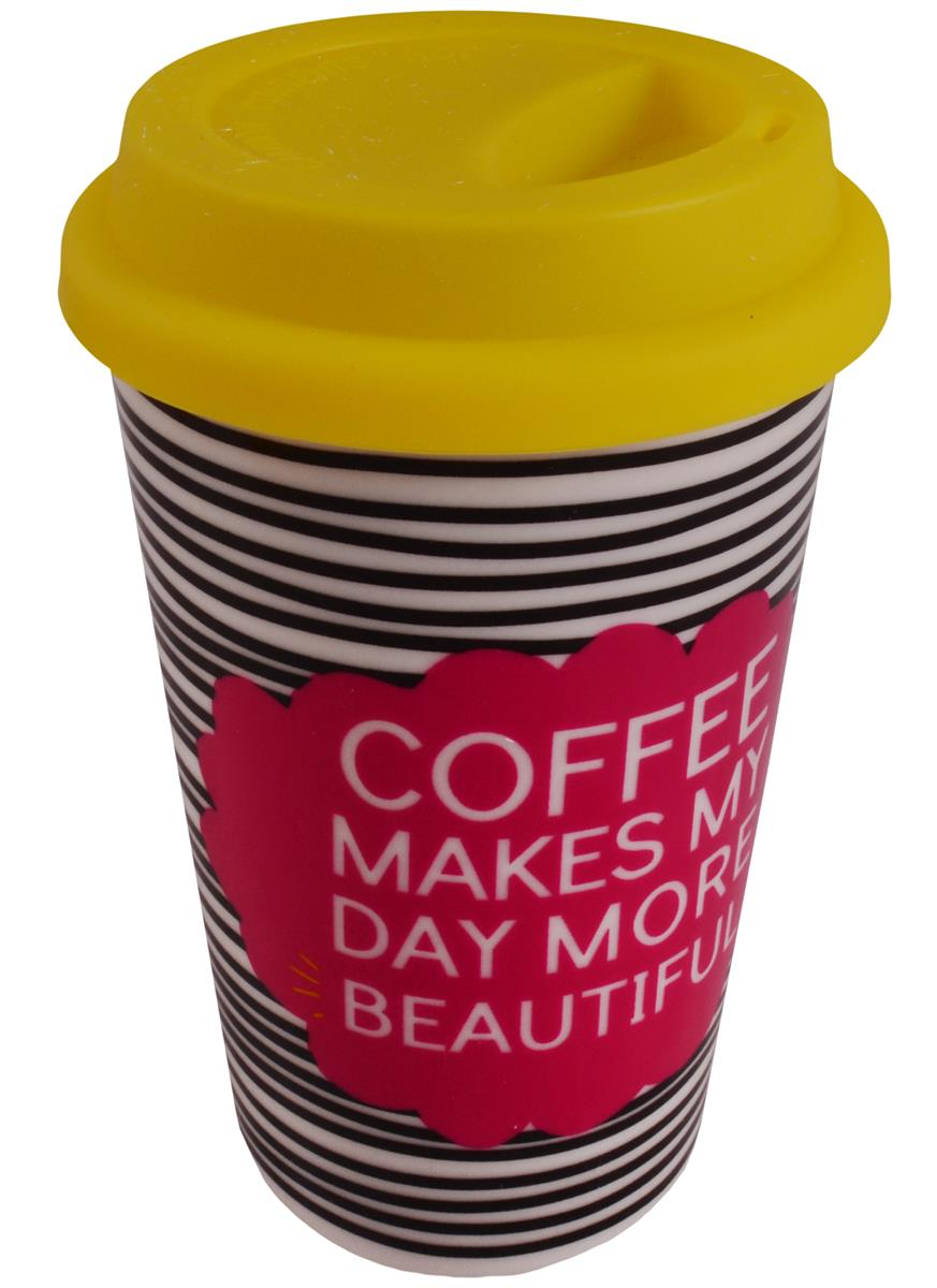 Стакан керамический Coffee makes my day (ПВХ бокс)