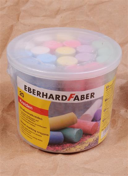 Мелки цветные 20шт асфальтные,круглые