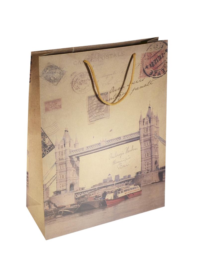 Пакет крафт Лондон 10*31*42 (XX-661А) (Веста Трейд)
