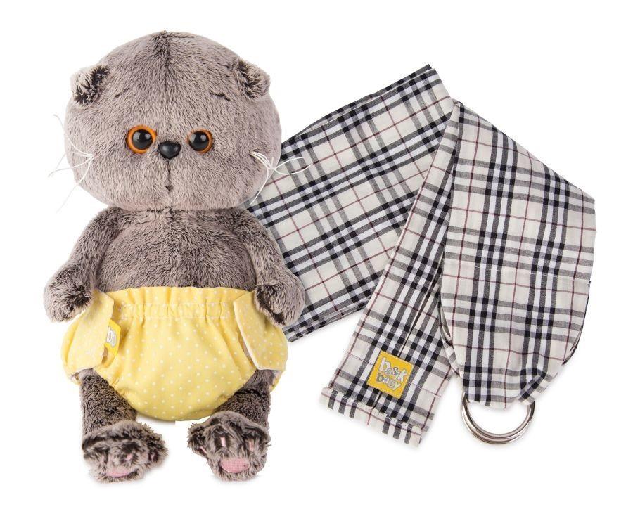Мягкая игрушка Басик BABY в трусиках на липучках и слингом (20 см) (BB-005)