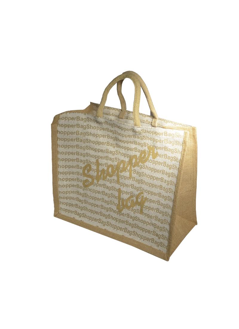 Сумка джутовая (PB-1478) (43х34х19) Хозяйственная сумка белая (Гринворкс)