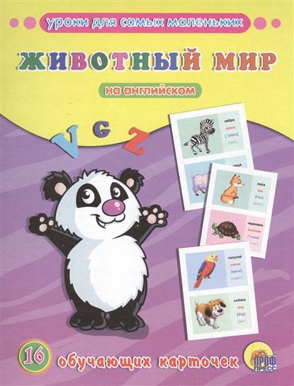 Животный мир на английском. 16 обучающих карточек