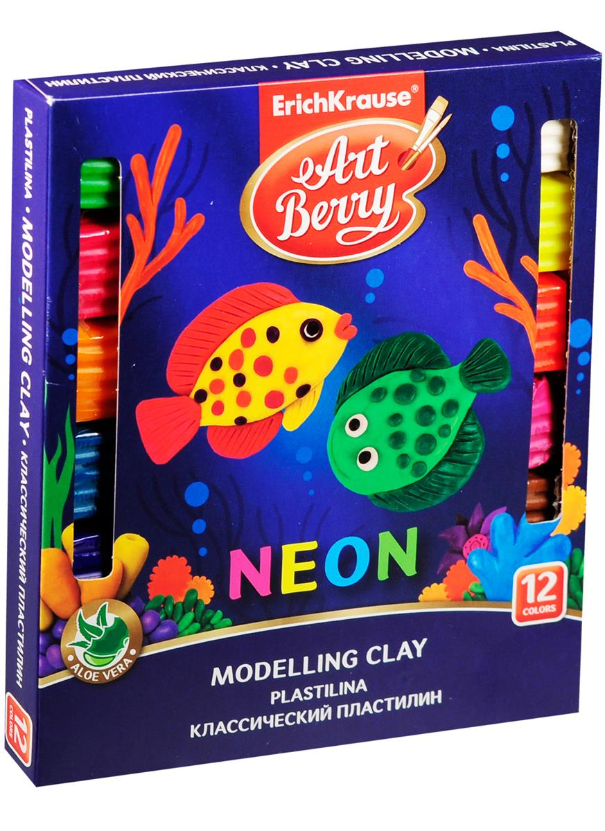 "Пластилин ""Art Berry"" с Алоэ Вера, НЕОН, 12 цв."