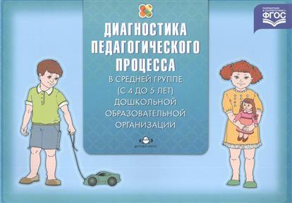 Диагностика педагогического процесса в средней группе (с 4 до 5 лет) дошкольной образовательной организации