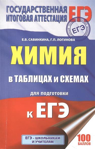 Савинкина Е., Логинова Г. ЕГЭ. Химия в таблицах и схемах. 10-11 классы. Справочное пособие
