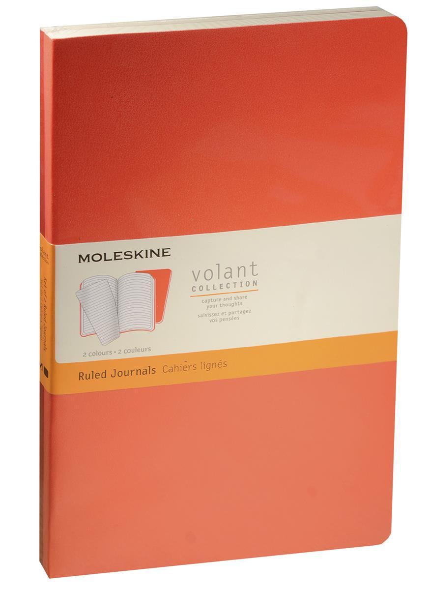 """Книга для записей А5 48л лин. """"Volant Large"""" (2шт.) бордовая/красная, мягкая обложка, Moleskine"""