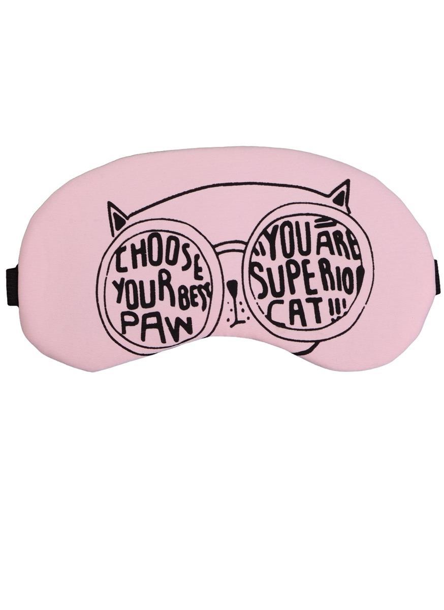 Маска для сна Кот в очках (пакет)