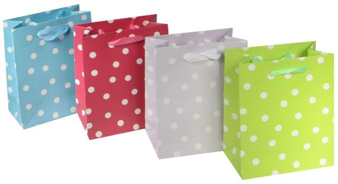 """Пакет подарочный бумажный """"Нежный горошек"""", А6"""