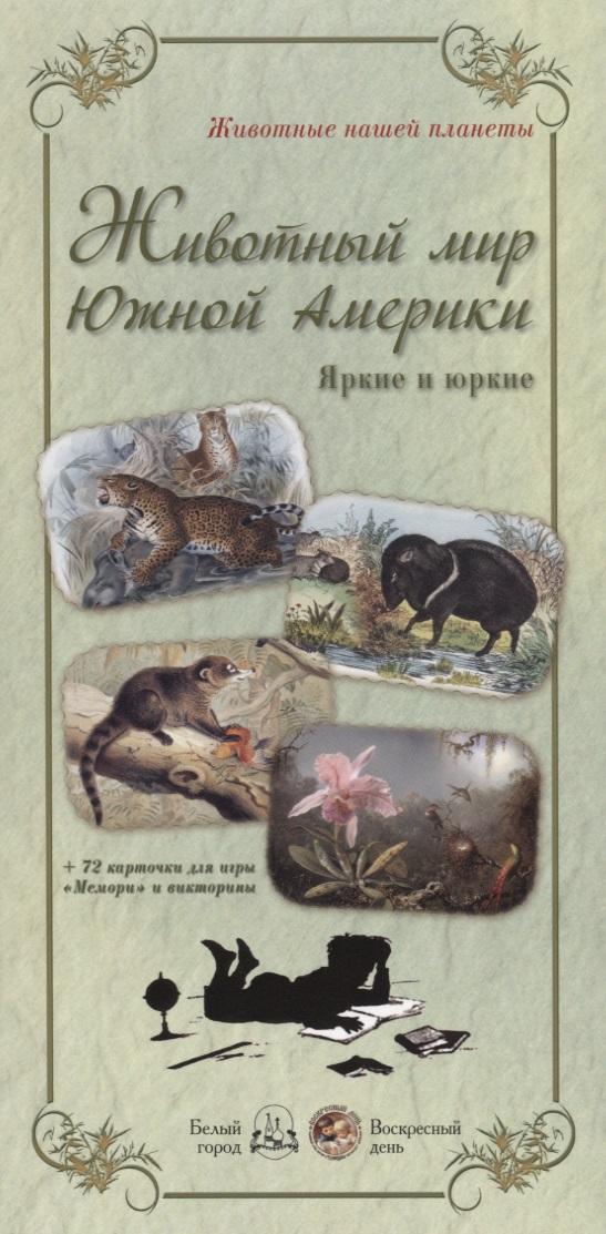 Астахова Н. В.,сост. Животный мир Южной Америки (+72 карточки для игры Мемори и викторины) набор наклеек животный мир насекомые и птицы н 1409