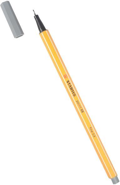 """Ручка капиллярная темно-серый """"Рoint"""" 0,4мм, STABILO"""