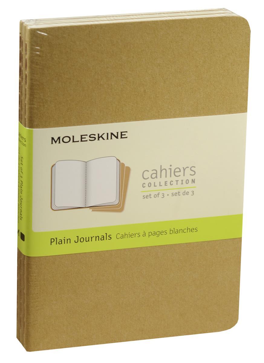 "Записная книжка А6 32л нелин. ""Cahier Journal Pocket"" (3шт.) бежевая, обложка картон, Moleskine"